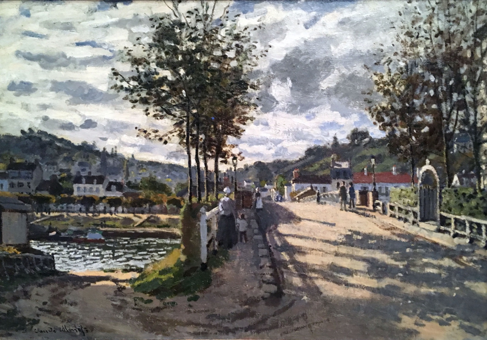 """Seine on the Bougival,"" Claude Monet (1869), The Currier Museum of Art align="