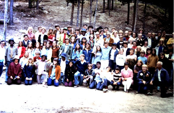 Campers from the Presbytery of the Dakotas in the early 70s
