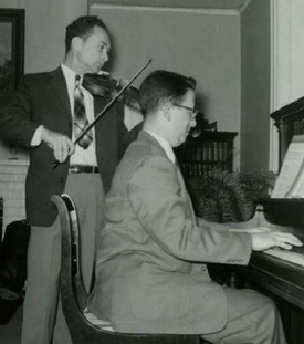 Dr. Kline (violin) with Howard Porter (piano)