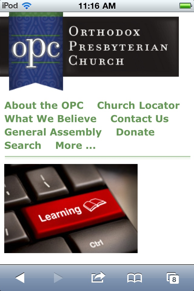 OPC.org mobile site