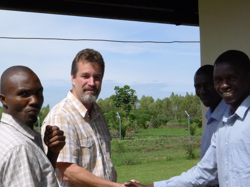 Charles Jackson at Knox Theological College in Mbale, Uganda