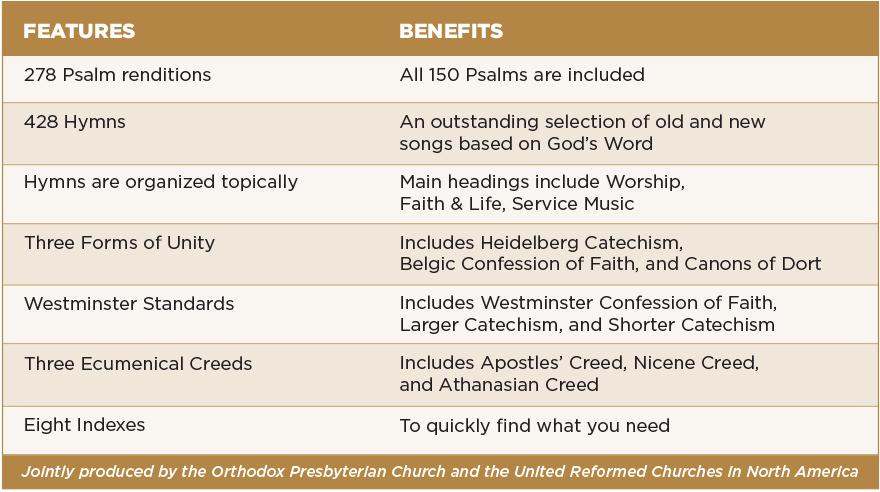Trinity Psalter Chart