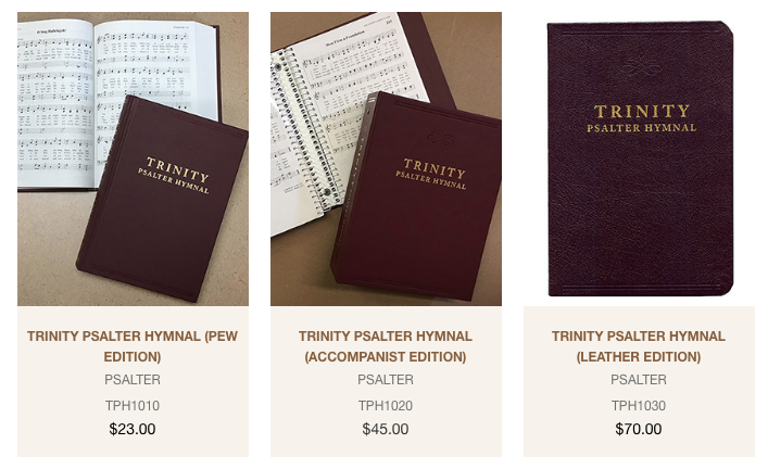 Trinity Psalter Products