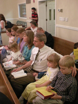 The Grove family at Grace OPC, Vienna, Va.